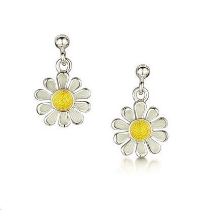Sheila Fleet - EEX234 Daisies at Dawn Earrings (enamel colour shown - Sunshine)