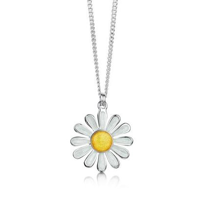 Sheila Fleet - EPX233 Daisies at Dawn Pendant (enamel colour shown - Sunshine)