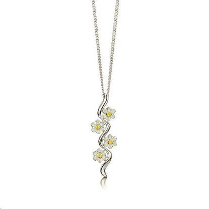 Sheila Fleet - EPX236 Daisies at Dawn Pendant (enamel colour shown - Sunshine)