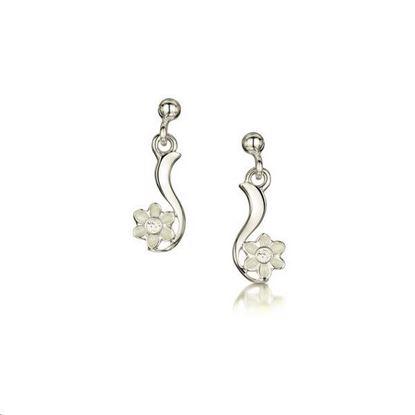 Sheila Fleet - ESE236 Daisies at Dawn Earrings(enamel colour shown - Crystal)