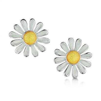 Sheila Fleet - EE233 Daisies at Dawn Earrings (enamel colour shown - Sunshine)