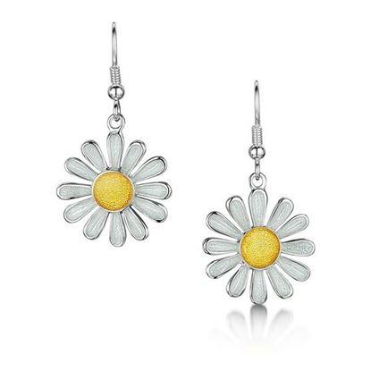 Sheila Fleet - EEX233 Daisies at Dawn Earrings (enamel colour shown - Sunshine)