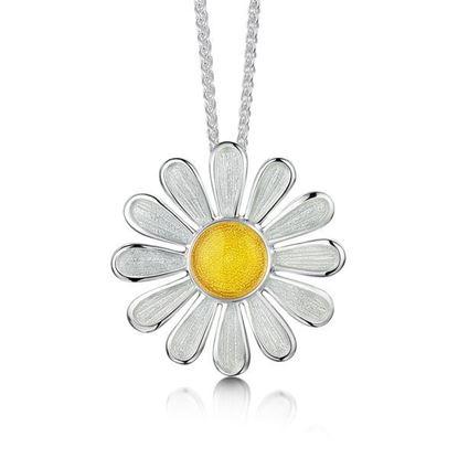 Sheila Fleet - EPXX233 Daisies at Dawn Pendant (enamel colour shown - Sunshine)