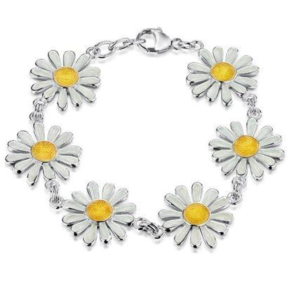 Sheila Fleet - EBLX233 Daisies at Dawn Bracelet (enamel colour shown - Sunshine)