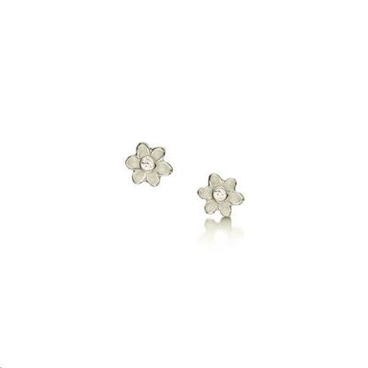 Sheila Fleet - EDE0236 Diamond Daisies Earrings (enamel colour shown - Crystal)