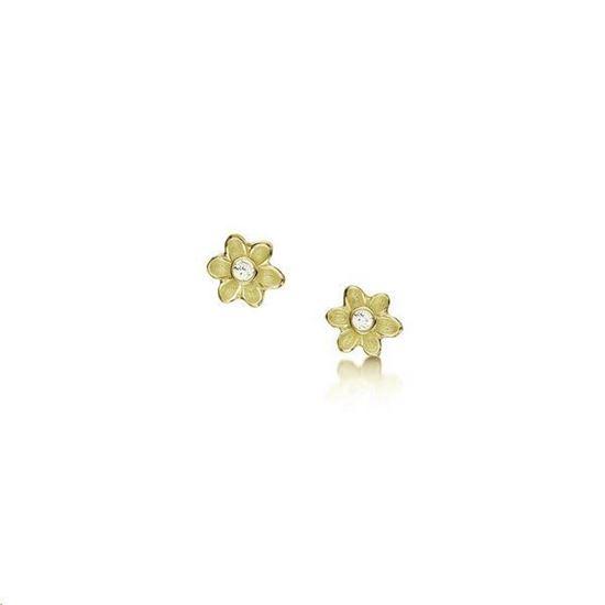 Sheila Fleet - DE0236 Diamond Daisies Earrings - 9YG