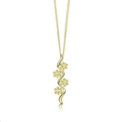 Sheila Fleet - DPX236 Diamond Daisies Pendant - 9YG