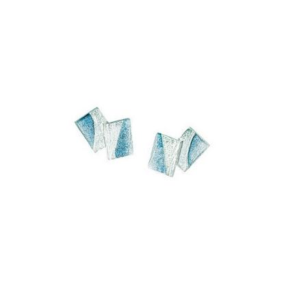 Sheila Fleet - EE137 Flagstone Earrings (enamel colour shown in Slate)