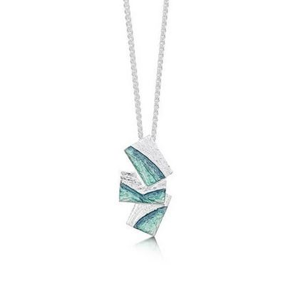 Sheila Fleet - EP0137 Flagstone Pendant (enamel colour shown in Storm)