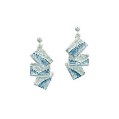 Sheila Fleet - EEXX137 Flagstone Earrings (enamel colour shown in Slate)