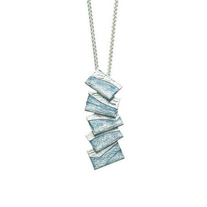 Sheila Fleet - EP137 Flagstone Pendant (enamel colour shown in Slate)