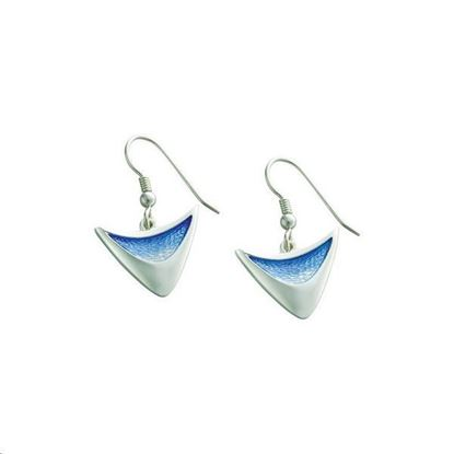 Sheila Fleet - EEX115 Flight Earrings (enamel colour shown in Sky)