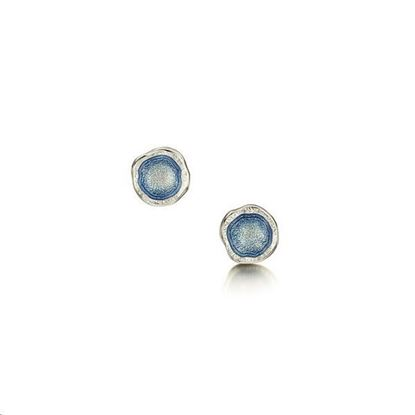 Sheila Fleet - EE00249 Lunar Earrings (enamel colour shown in Lunar Blue)