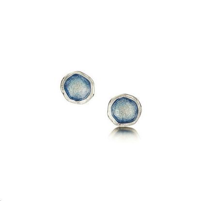 Sheila Fleet - EE0249 Lunar Earrings (enamel colour shown in Lunar Blue)