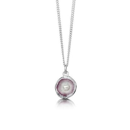 Sheila Fleet - ESP0249 Lunar Pendant (enamel colour shown in Champagne)