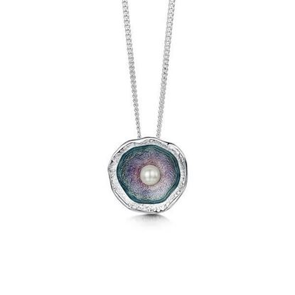 Sheila Fleet - ESP249 Lunar Pendant (enamel colour shown in Mill Sands)