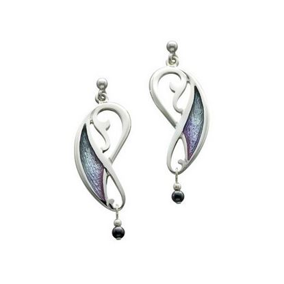 Sheila Fleet - EE52 Mill Sands Earrings (enamel colour shown in Mill Sands)