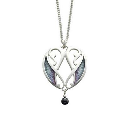 Sheila Fleet - EP52 Mill Sands Pendant (enamel colour shown in Mill Sands)