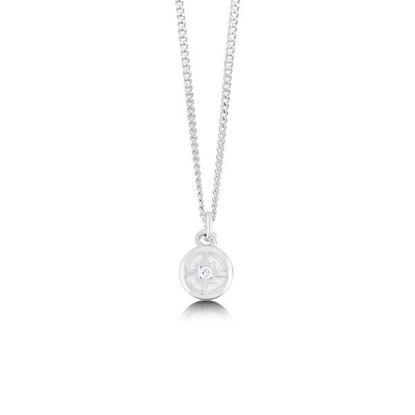 Sheila Fleet - ESP091 Minehowe Pendant (enamel colour shown in Crystal)
