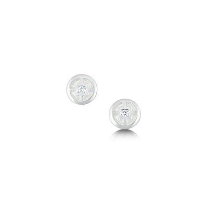 Sheila Fleet - ESE091 Minehowe Earrings (enamel colour shown in Crystal)