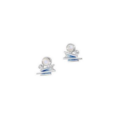 Sheila Fleet - ESE0149 Moonlight Earrings (enamel colour shown in Moonlight)