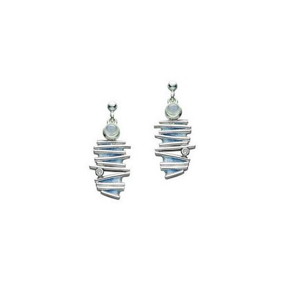 Sheila Fleet - ESE149 Moonlight Earrings (enamel colour shown in Moonlight)