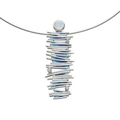 Sheila Fleet - ESNXX149 Moonlight Necklet (enamel colour shown in Moonlight)