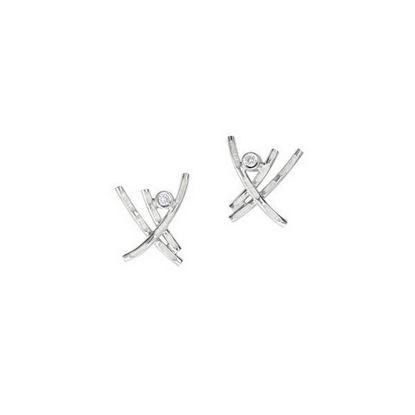 Sheila Fleet - ESE00185 Morning Dew Earrings (enamel colour shown in Crystal)