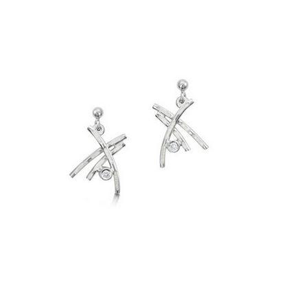 Sheila Fleet - ESE0185 Morning Dew Earrings (enamel colour shown in Crystal)