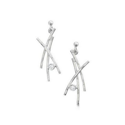 Sheila Fleet - ESE185 Morning Dew Earrings (enamel colour shown in Crystal)
