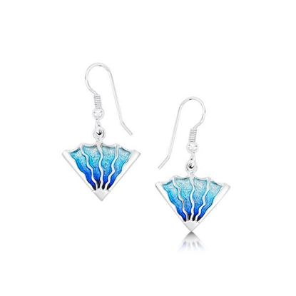 Sheila Fleet - EE93 Ocean Earrings (enamel colour shown in Ocean)