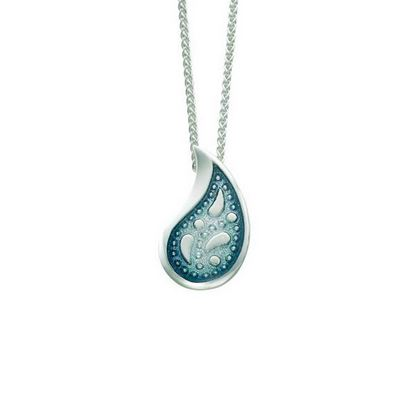 Sheila Fleet - EP126 Paisley Leaf Pendant (enamel colour shown in Verdi)