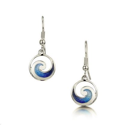 Sheila Fleet - EE051 Pentland Earrings (enamel colour shown in Pentland)