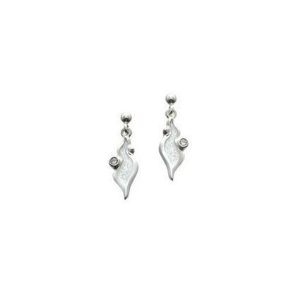 Sheila Fleet - ESE088 River Ripples Earrings (enamel colour shown in Frost)