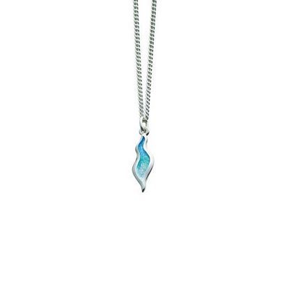 Sheila Fleet - EP087 River Ripples Pendant (enamel colour shown in Shallows)
