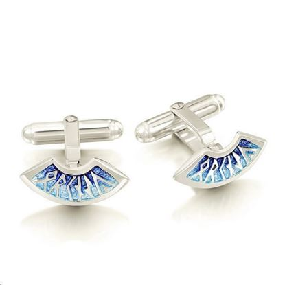 Sheila Fleet - ECL034 Runic Cufflinks (enamel colour shown in Skaill)