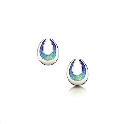 Sheila Fleet - EE0238 Sea and Surf Earrings (enamel shown in Ocean Hue)