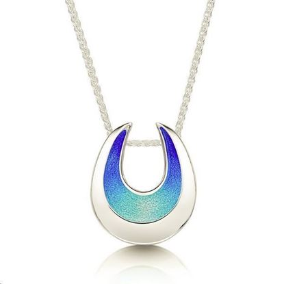 Sheila Fleet - EP238 Sea and Surf Pendant (enamel shown in Ocean Hue)