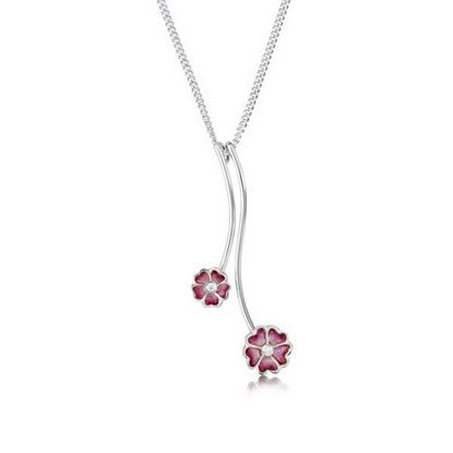 Sheila Fleet - ESP140 Primula Scotica Pendant (enamel shown is Hot Pink)