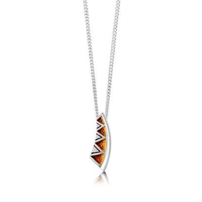 Sheila Fleet - EP075 Skara Shard Pendant (enamel colour shown in Fire)