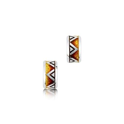 Sheila Fleet - EEX72 Skara Shard Earrings (enamel colour shown in Fire)