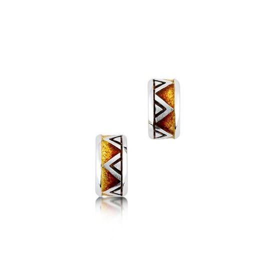Sheila Fleet - EEX72 Skara Shard Earrings (enamel colour shown in Fire)