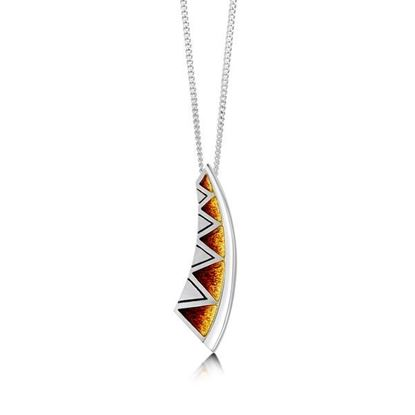 Sheila Fleet - EP75 Skara Shard Pendant (enamel colour shown in Fire)