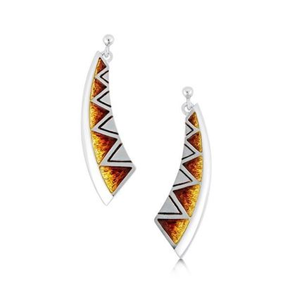 Sheila Fleet - EEX75 Skara Shard Earrings (enamel colour shown in Fire)