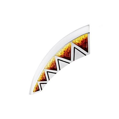 Sheila Fleet - EBX75 Skara Shard Brooch (enamel colour shown in Fire)