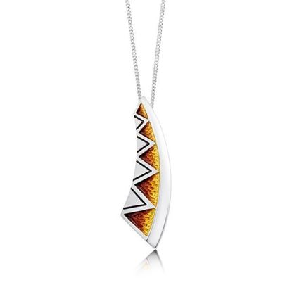 Sheila Fleet - EPX75 Skara Shard Pendant (enamel colour shown in Fire)