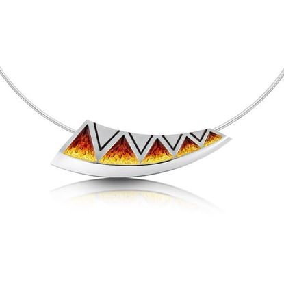 Sheila Fleet - ENXX75 Skara Shard Necklet (enamel colour shown in Fire)