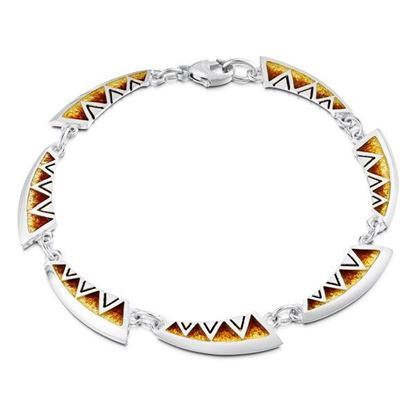 Sheila Fleet - EBL75 Skara Shard Bracelet (enamel colour shown in Fire)