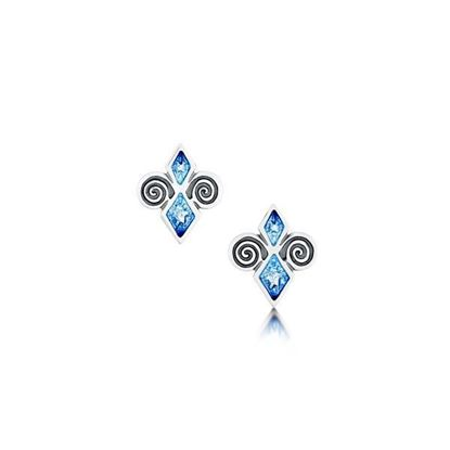 Sheila Fleet - EE74 Skara Urn Earrings (enamel colour shown in Skaill)