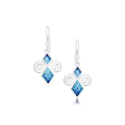 Sheila Fleet - EEX74 Skara Urn Earrings (enamel colour shown in Skaill)